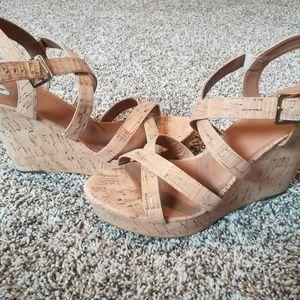 Nordstrom Bp Real Cork Wedge Shoes
